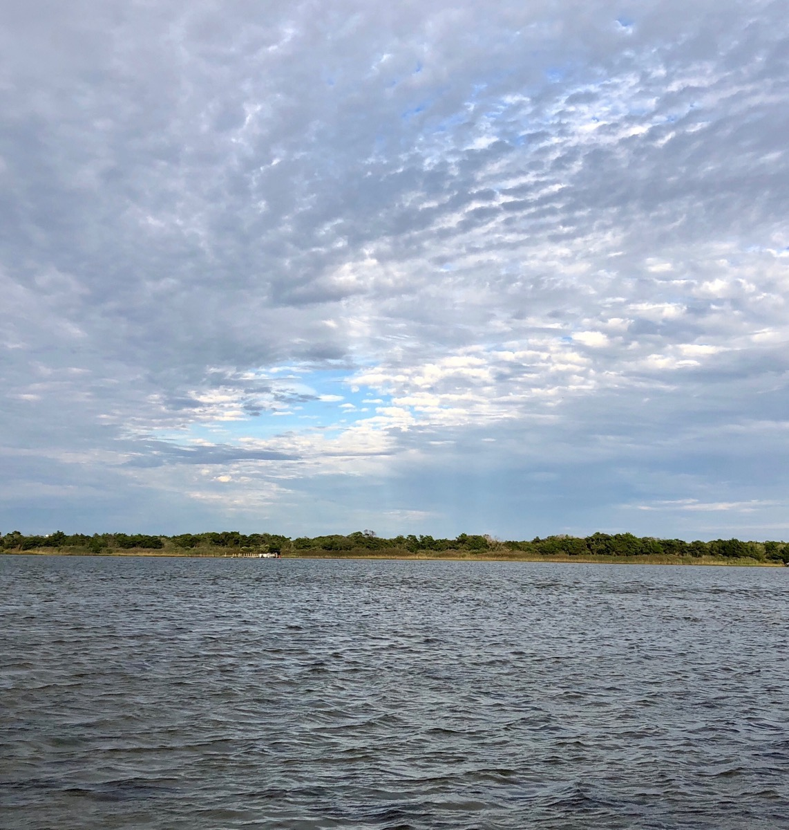 Barnegat Bay with cloudy sky