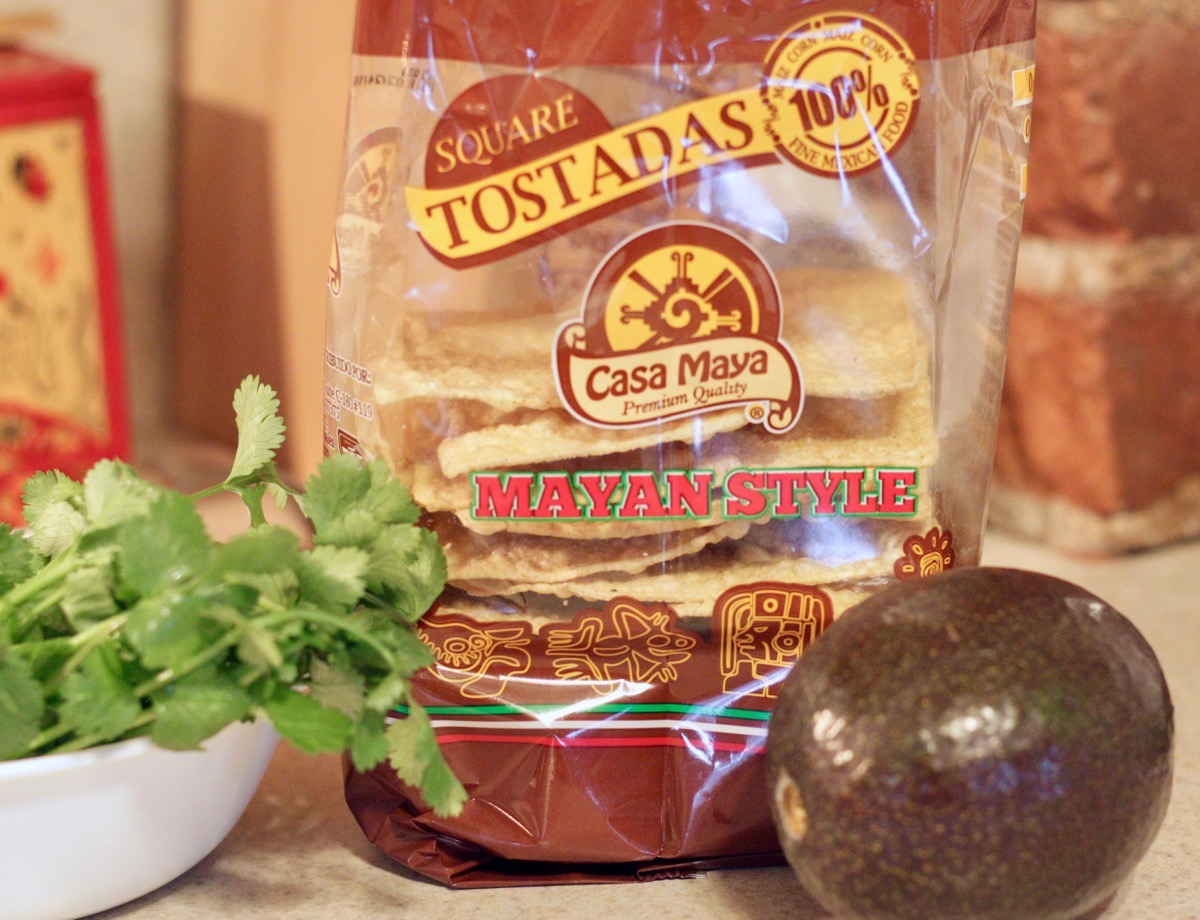Tostadas and ingredients